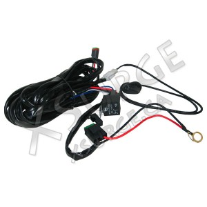 Wiring harness for single row led bar